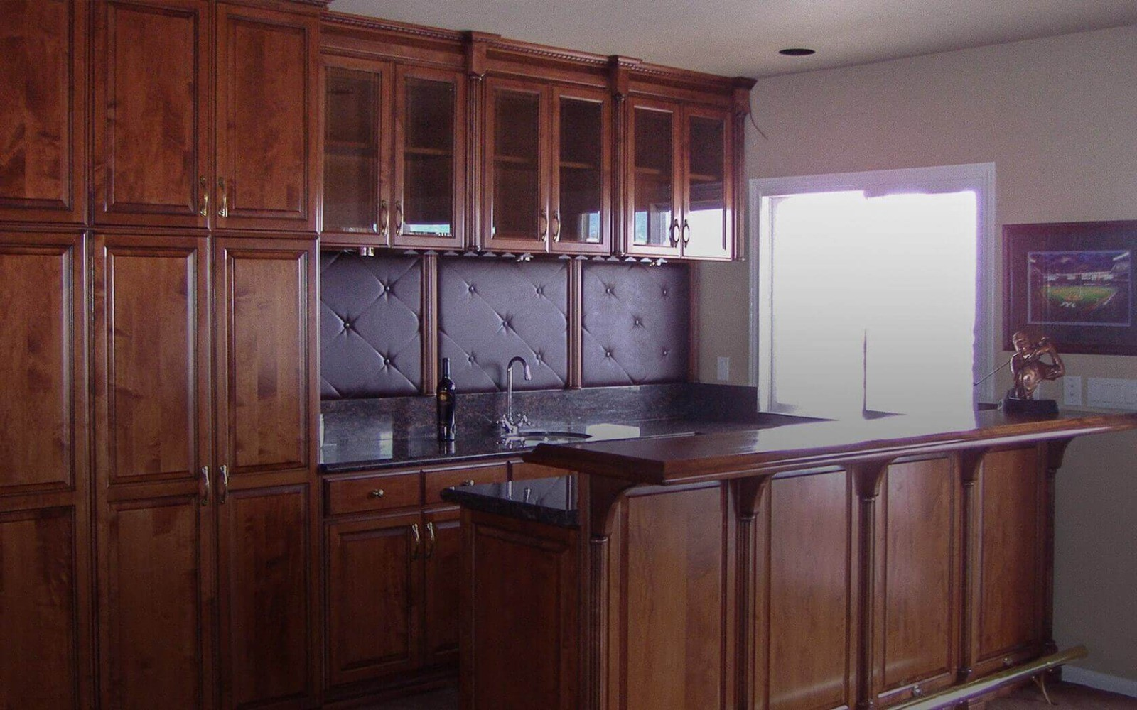 Custom Built In Cabinets Office, Library, Media, Bar