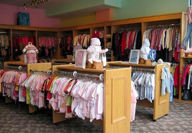 Oak wood custom retail fixtures