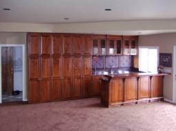 Custom built-in cabinets office, library, media, bar ...